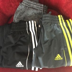 Adidas Boys pants- lot of 3- size 8